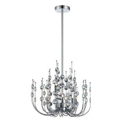 Vice 9-Light Chrome and Clear Chandelier
