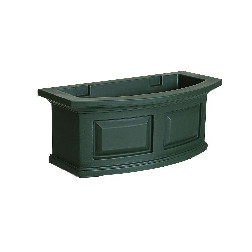 Nantucket 10 in. x 24 in. Green Polyethylene Window Box