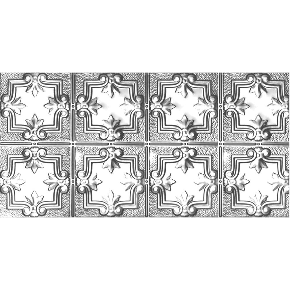 Shanko 2 ft. x 4 ft. Nail-up/Direct Application Tin Ceiling Tile in Clear Lacquer (24 sq. ft ...