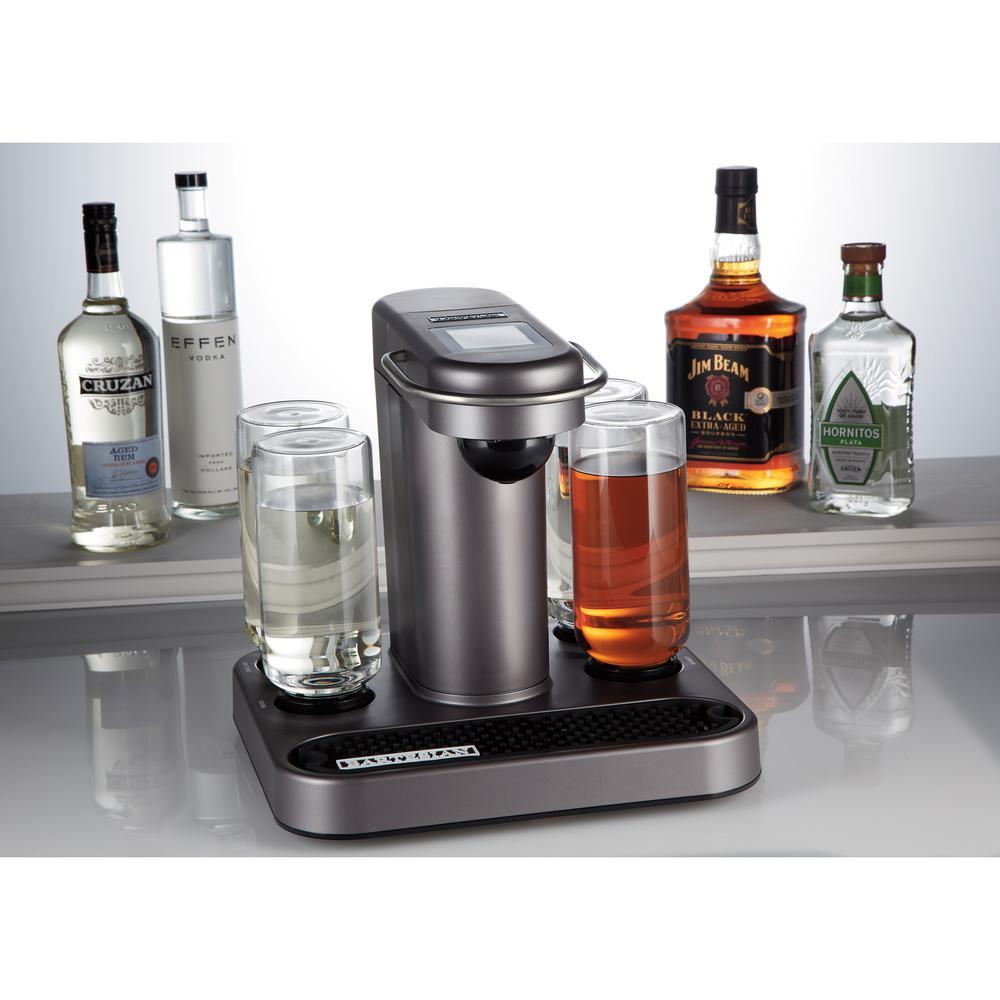 Grey Cocktail Machine with Premium Glass Bottles