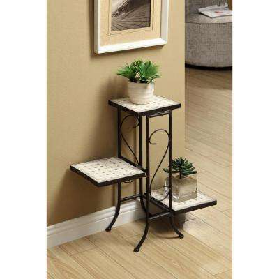 Tuscany Metal 3 Tier Indoor Plant Stand