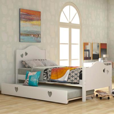 White Loving Shape Twin Size Daybed with Trundle