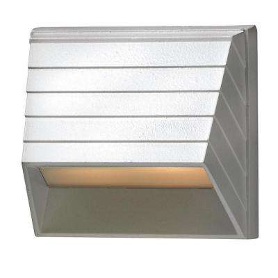 Matte White LED Outdoor Flushmount Deck Sconce