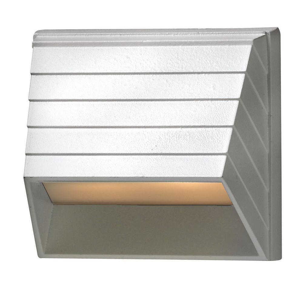 Matte White LED Outdoor Flushmount Deck Sconce