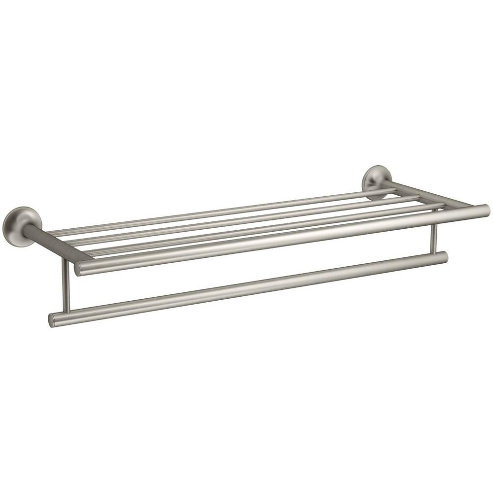 KOHLER Coralais 24 in. Hotelier in Vibrant Brushed Nickel-K-13448-BN ...