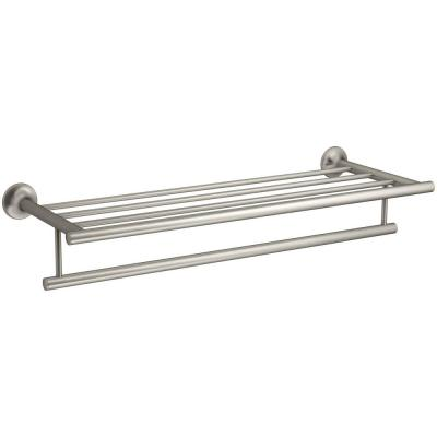 Coralais 24 in. Hotelier Double Towel Bar in Vibrant Brushed Nickel