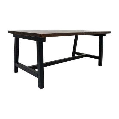 Zealand Trestle Dark Brown Coffee Table