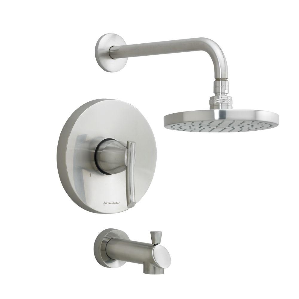American Standard Green Tea Single-Handle 1-Spray Tub and Shower Faucet in Stainless Steel (Valve Not Included)