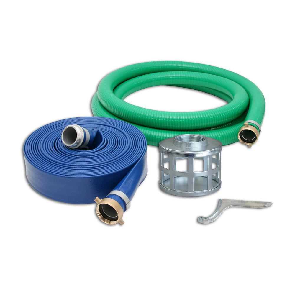 3 in. Trash Water Pump Hose Kit