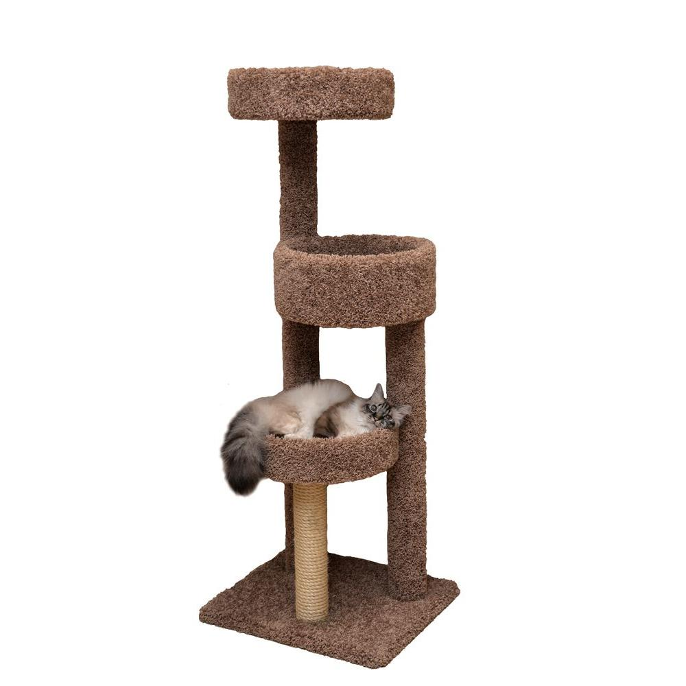 60 in. Brown Rest Stop Cat Tower