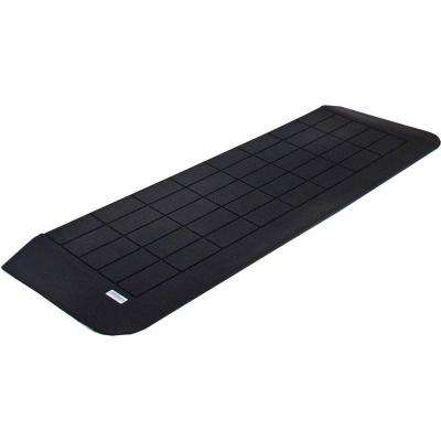 1-1/2 in. High x 42 in. L Black Recycled Rubber Threshold Wheelchair Ramp