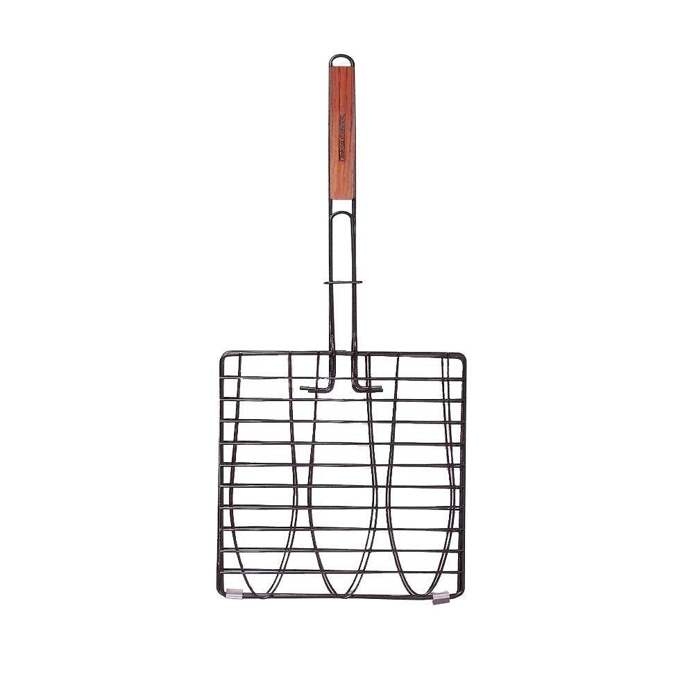 Non-Stick Triple Fish Grilling Basket