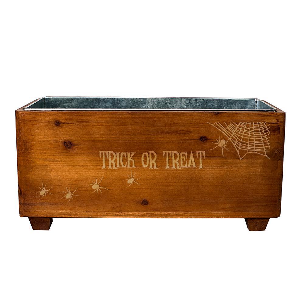 Halloween Wooden Wine Trough by