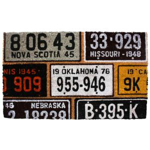 Click here to buy  18 inch x 30 inch License Plates Vinyl Back Coco Door Mat.