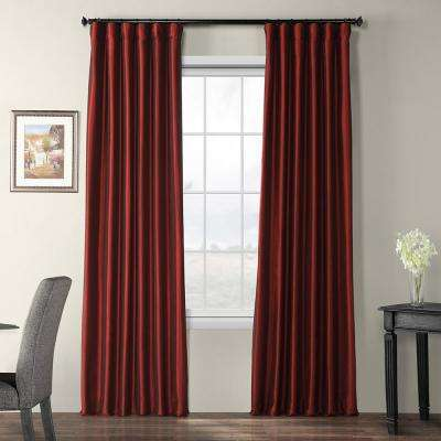 Syrah Red Blackout Faux Silk Taffeta Curtain - 50 in. W x 120 in. L