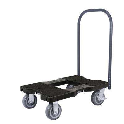 1,800 lbs. Capacity Super-Duty Professional E-Track Push Cart Dolly in Black