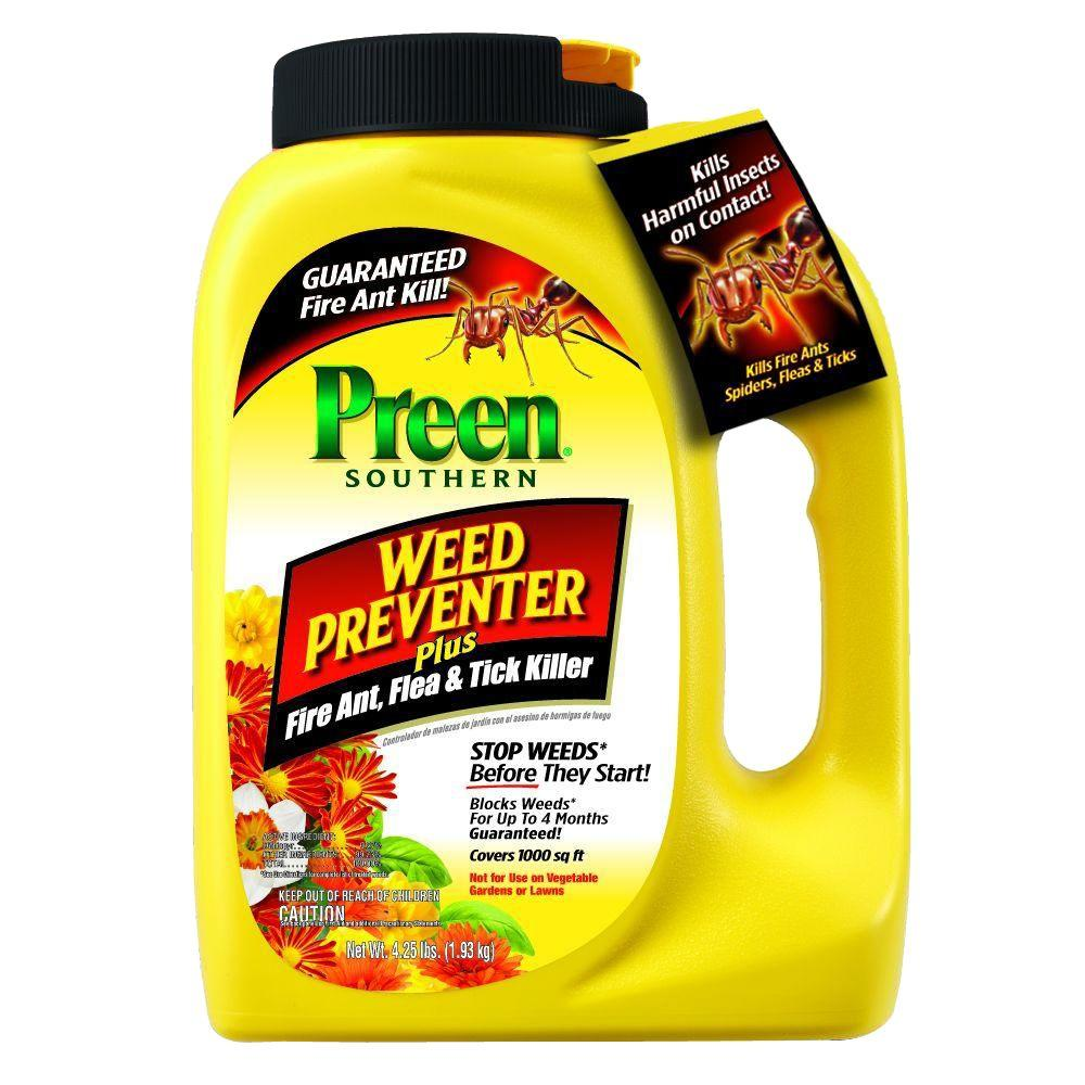 Preen 4.25 lbs. Southern Weed Preventer Plus Fire Ant Flea and Tick Killer