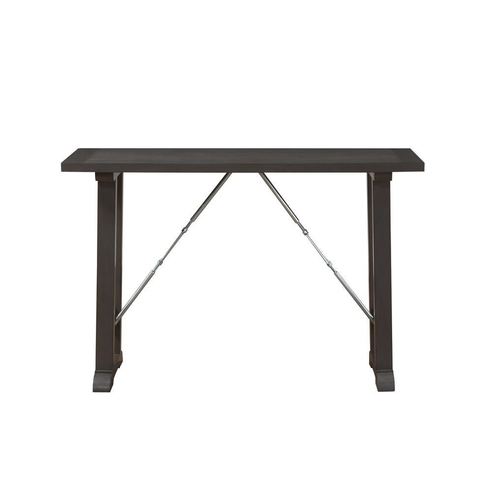 Filbert Gray Oak and Chrome 3-Piece Counter Height Set