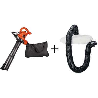 250 MPH 400 CFM 12-Amp Corded Electric Handheld Leaf Blower/Vacuum/Mulcher with Bonus Leaf Collection System Attachment
