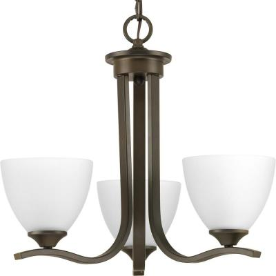 Laird Collection 3-Light Antique Bronze Chandelier with Shade
