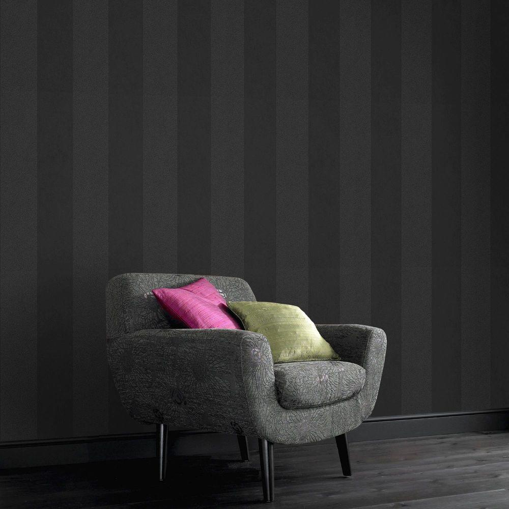 Glitter Artisan Stripe Removable Wallpaper
