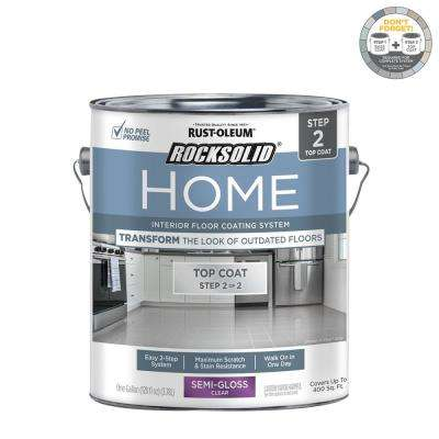 Home 1 gal. Semi-Gloss Clear Interior Floor Topcoat