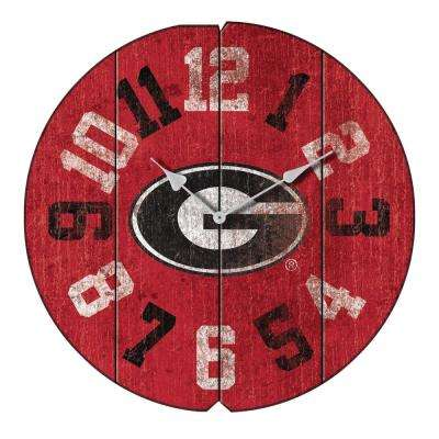 University at Georgia Vintage Round Clock