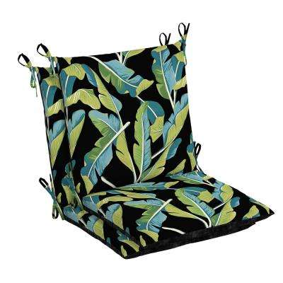 Banana Leaf Tropical Outdoor Dining Chair Cushion (2-Pack)