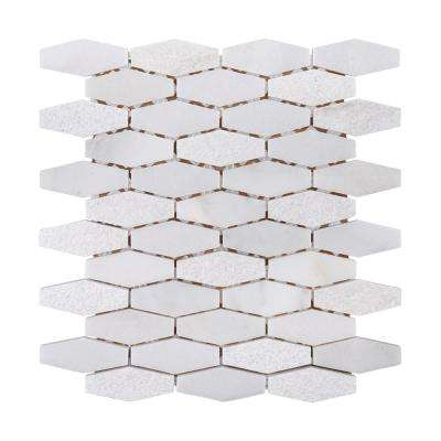 Nimbus 10-1/4 in. x 11-1/2 in. x 10 mm Marble Stone Mosaic Tile