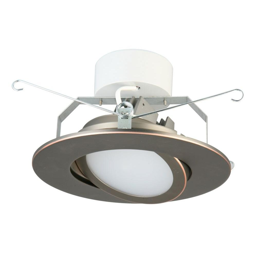 Lithonia Lighting 6 In Oil Rubbed Bronze Recessed Gimbal Led Module 3000k