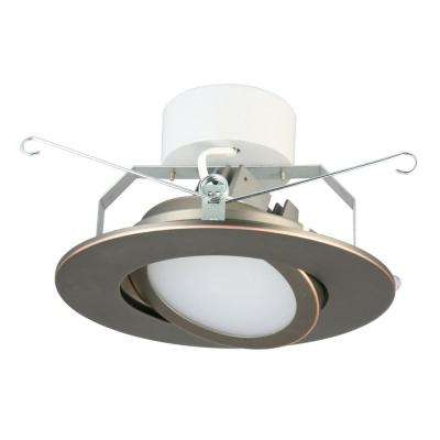 6 in. Oil Rubbed Bronze Recessed Gimbal LED Module (3000K)