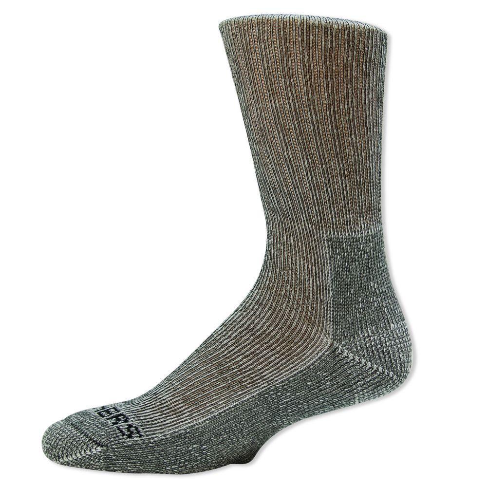Men Shoe Size 6-12.5 Black Poly/Rubber Sock (2-Pack)