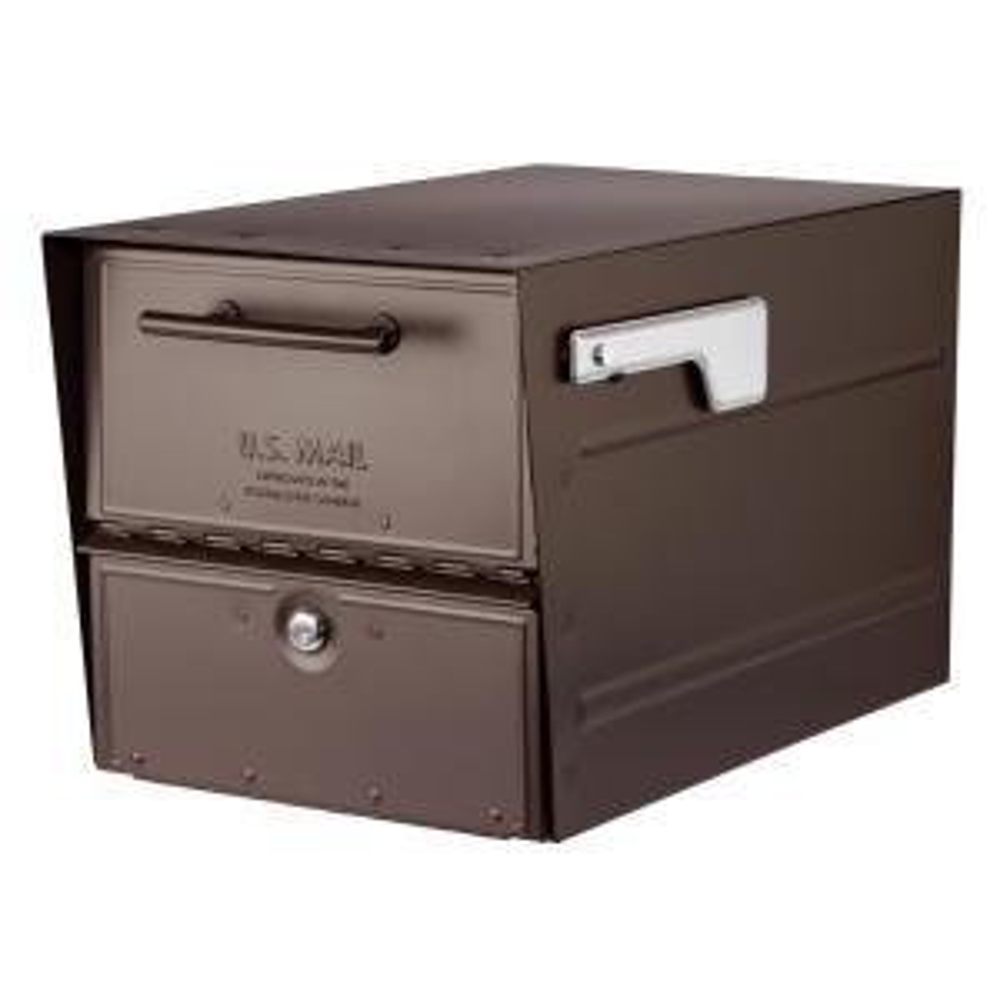 Gibraltar Mailboxes Hamilton Black Locking Aluminum Large