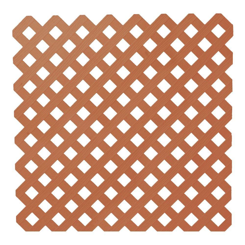 0.2 in. x 48 in. x 8 ft. Redwood Privacy Plastic
