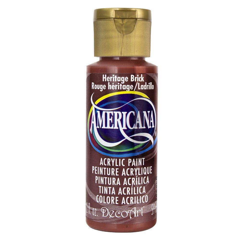 Americana 2 oz. Heritage Brick Acrylic Paint