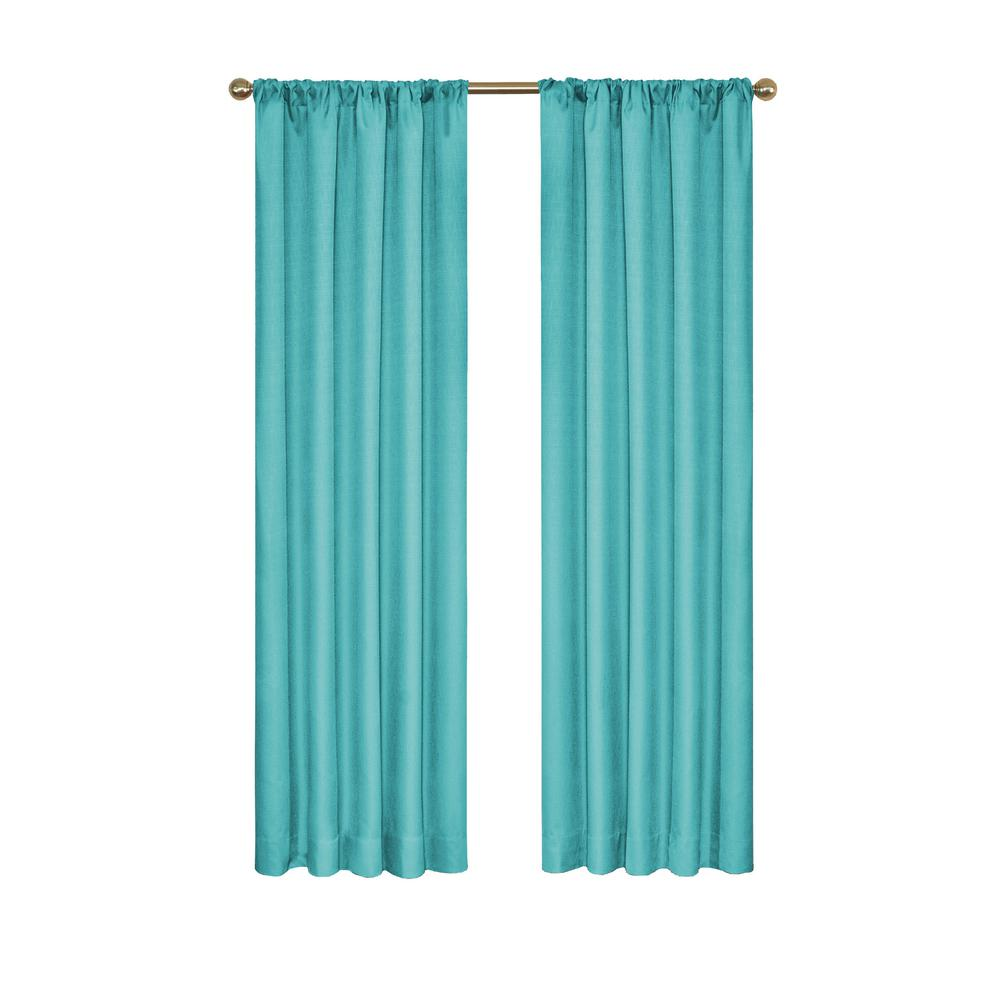 Eclipse Kendall Blackout Turquoise Curtain Panel, 84 In