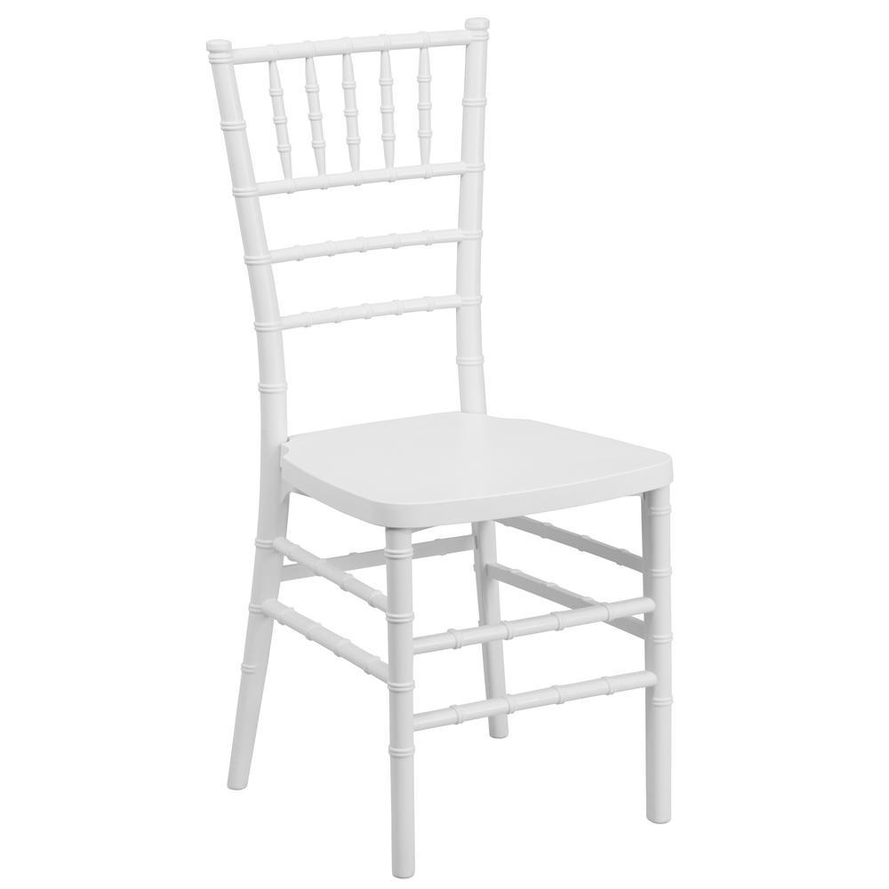 Hercules Premium Series White Resin Stacking Chiavari Chair