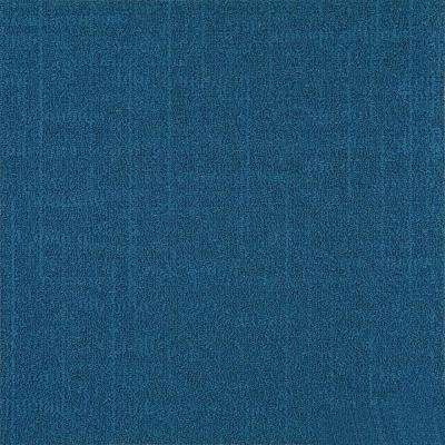 Reed Blue Loop 19.68 in. x 19.68 in. Carpet Tile (8 Tiles/Case)