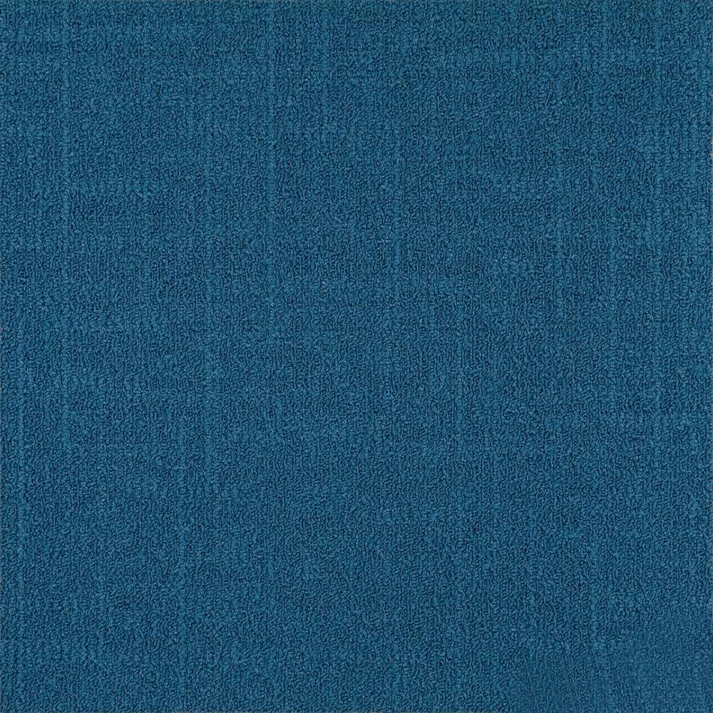 Reed Blue Loop 19.68 in. x 19.68 in. Carpet Tile (8 Tiles/Case)