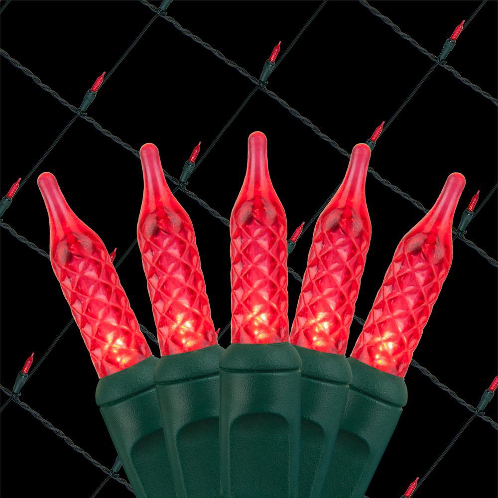 48 in. x 72 in. 100-Light M5 LED Red Net Light Set