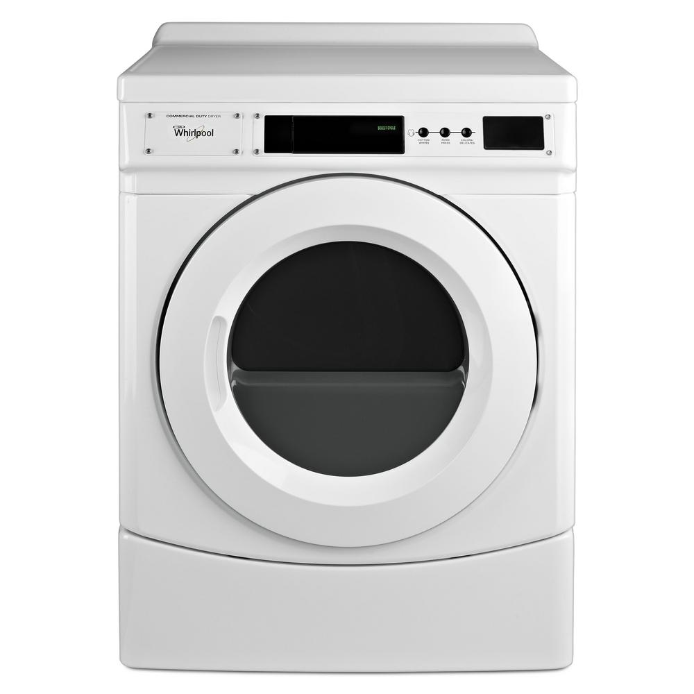 Whirlpool 6.7 cu. ft. 120-Volt White Commercial Gas Vented Dryer