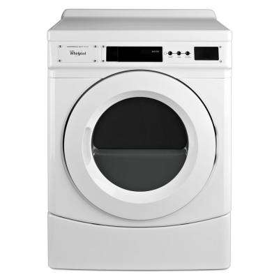 6.7 cu. ft Commercial Front Load Gas Dryer in White