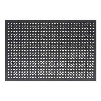 Comfort Mat Black 31.5 in. x 47.25 in. Black Rubber Kitchen Mat