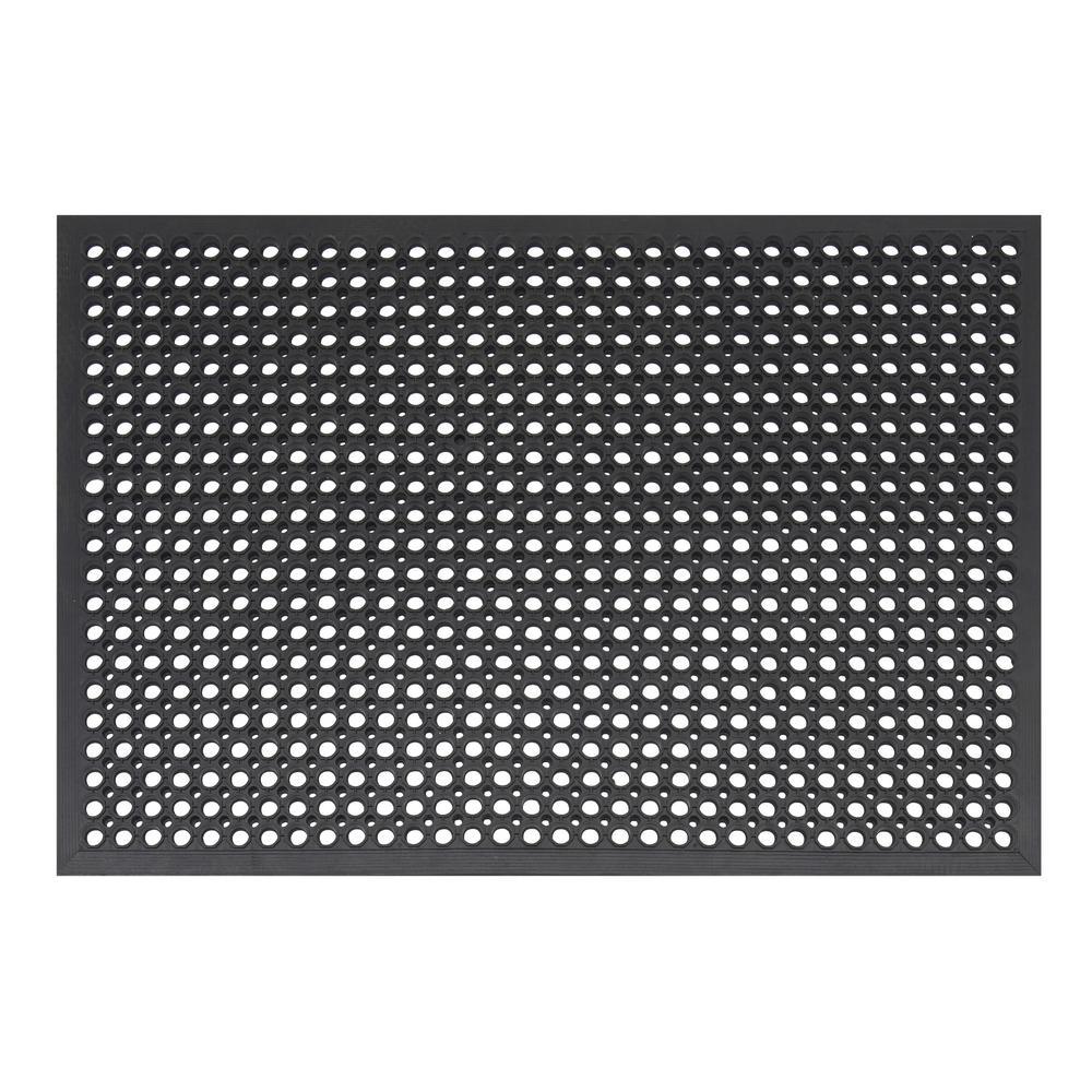 Comfort Mat Black 31.5 in. x 47.25 in. Black Rubber Kitchen Mat