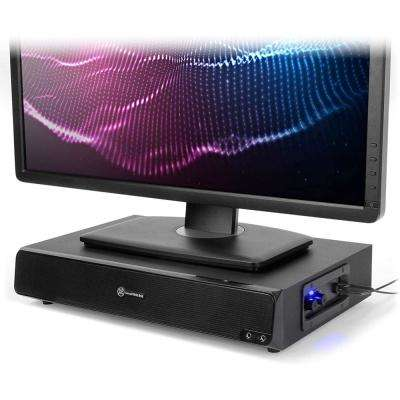 GOgroove SonaVERSE BSE Sound Base 3 in. Desk Monitor Riser with Powered Subwoofer