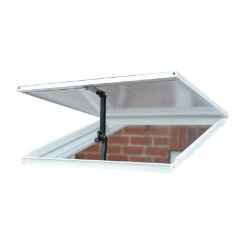 2 ft. W x 0.1 ft. D x 2 ft. L Sun Room Roof Vent in White