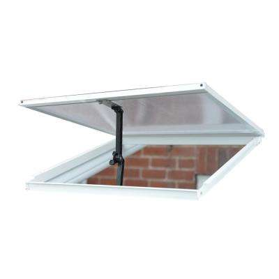 2 ft. W x 0.1 ft. D x 2 ft. L Sun Room Roof Vent in White