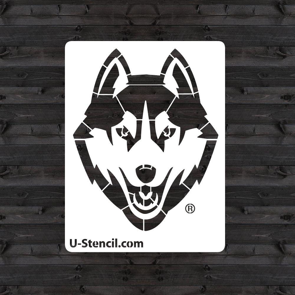 """""""Uconn Huskies"""" Mini Stencil"""
