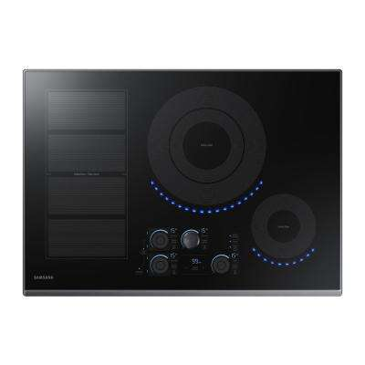 30 in. Induction Cooktop with Fingerprint Resistant Black Stainless Steel Trim with 5 Elements and Flex Zone Element