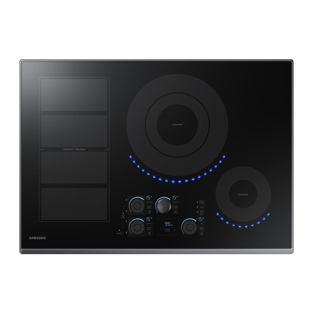 Samsung 30 in. Induction Cooktop with Fingerprint Resistant Black Stainless Trim with 5 Elements and Flex Zone Element
